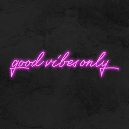 good vibes only neon led deco la maison du neon