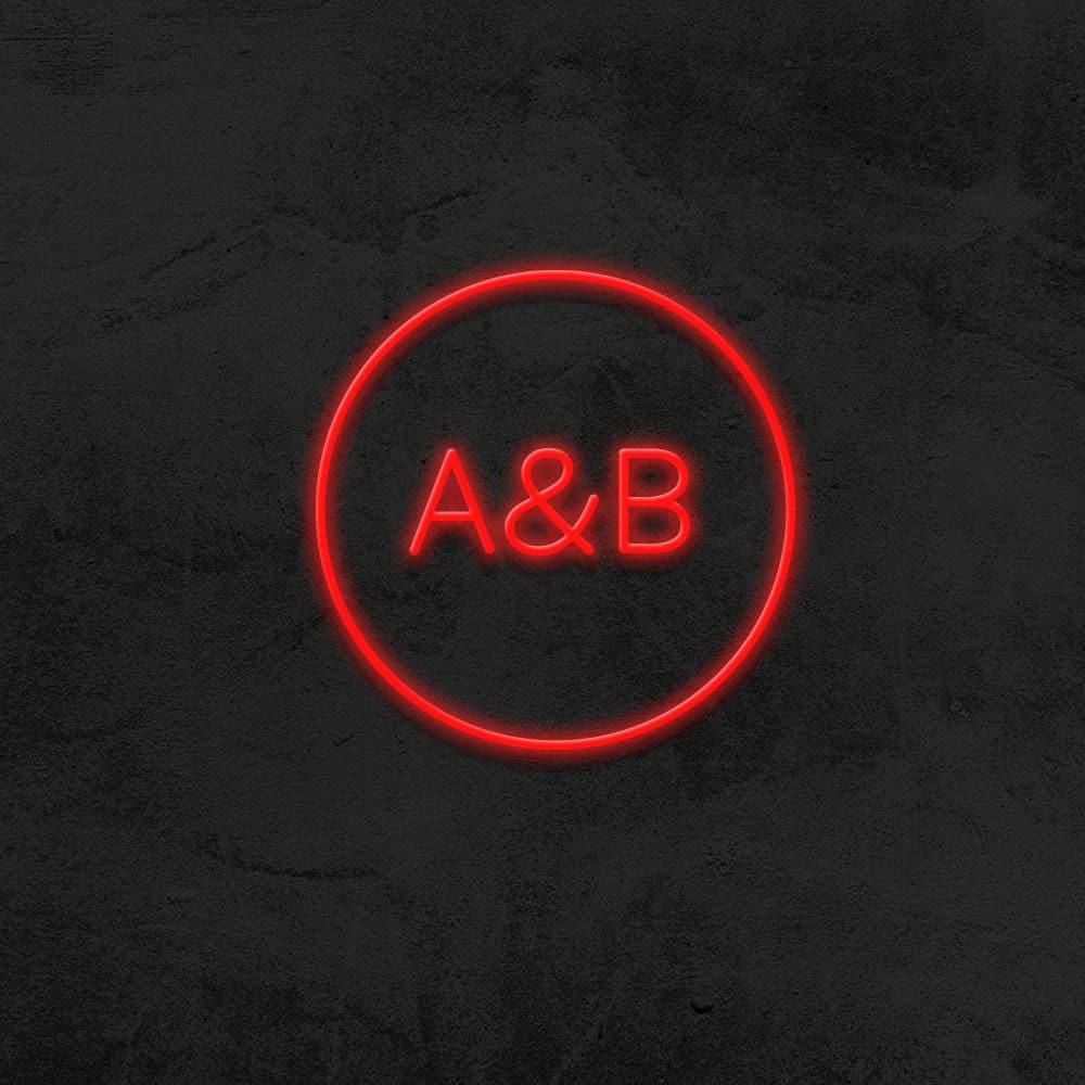 neon cercle initiales sur mesure