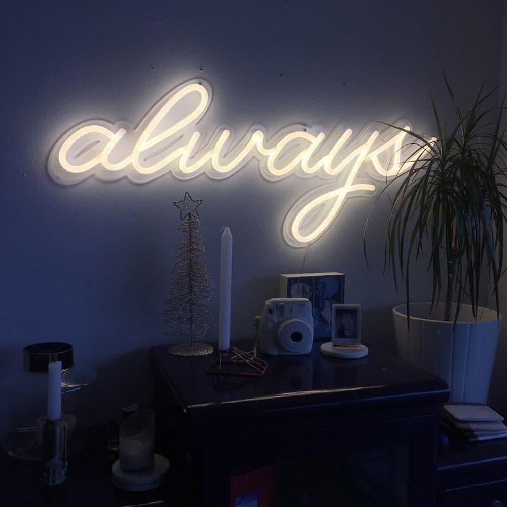 Néon LED Always en blanc