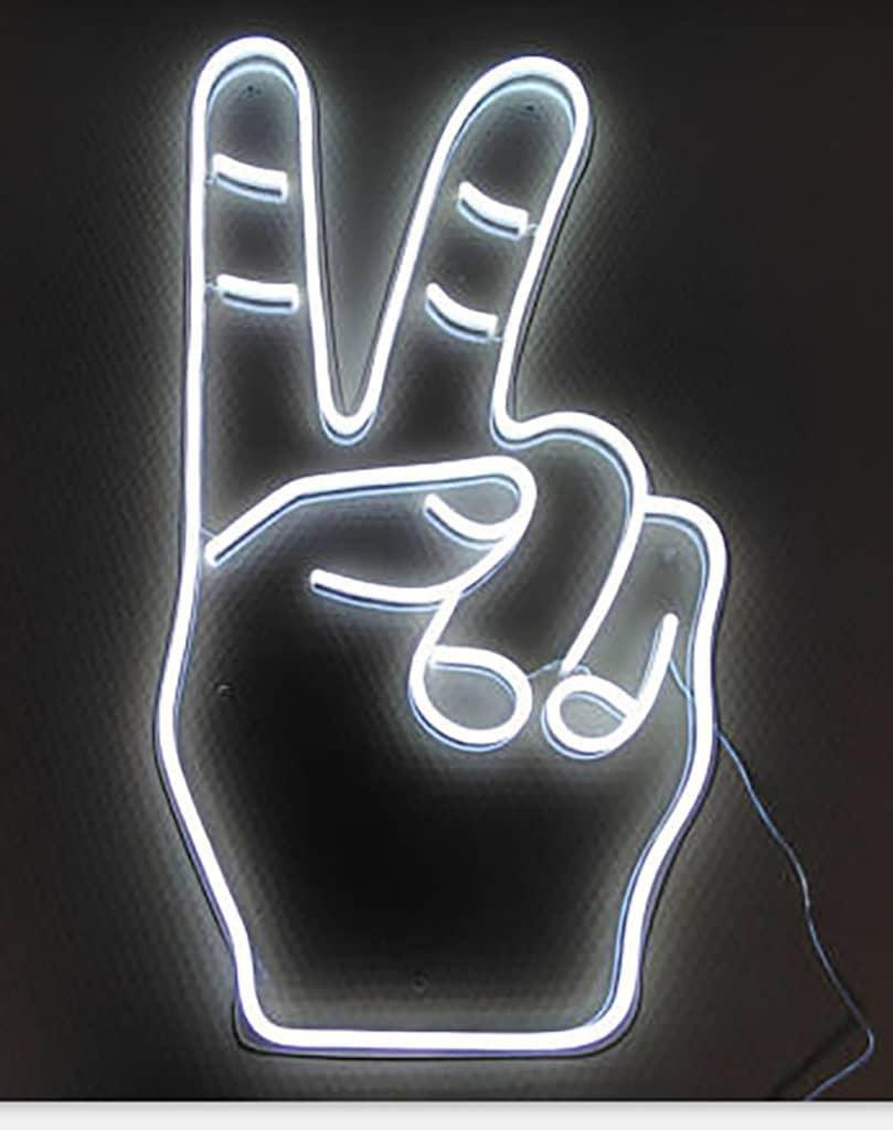 Néon LED Victoire en blanc