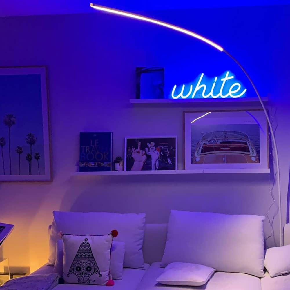 Néon LED bleu