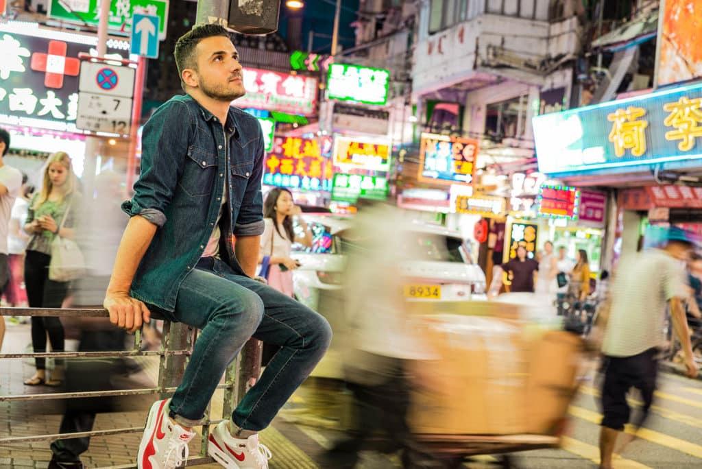 ben darmon créateur néon led à hong kong
