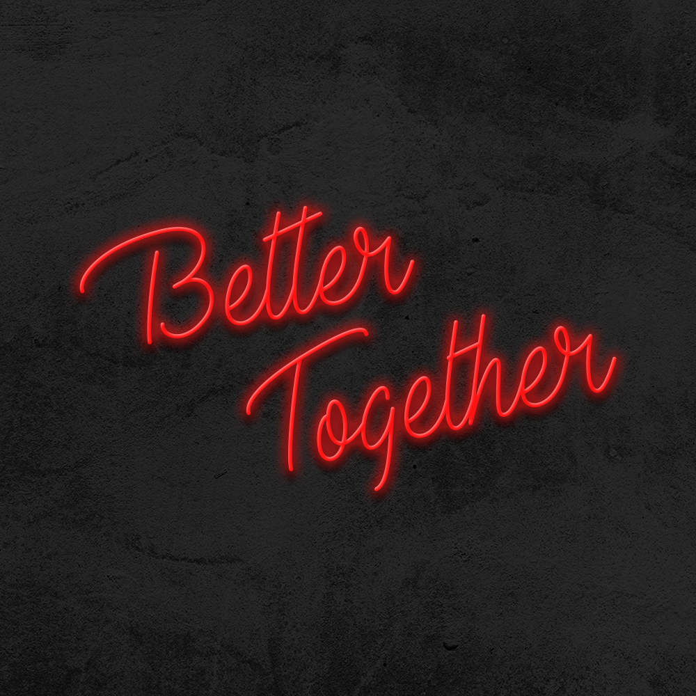 better together neon led mariage la maison du neon