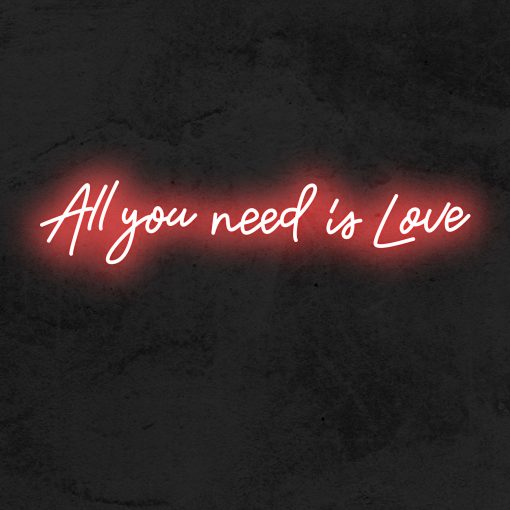 All you need is love neon LED mariage La Maison du Neon