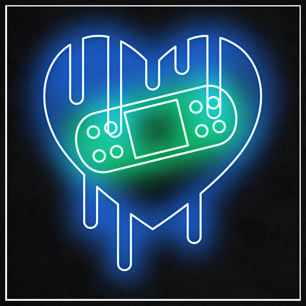 Neon Dadju coeur qui saigne
