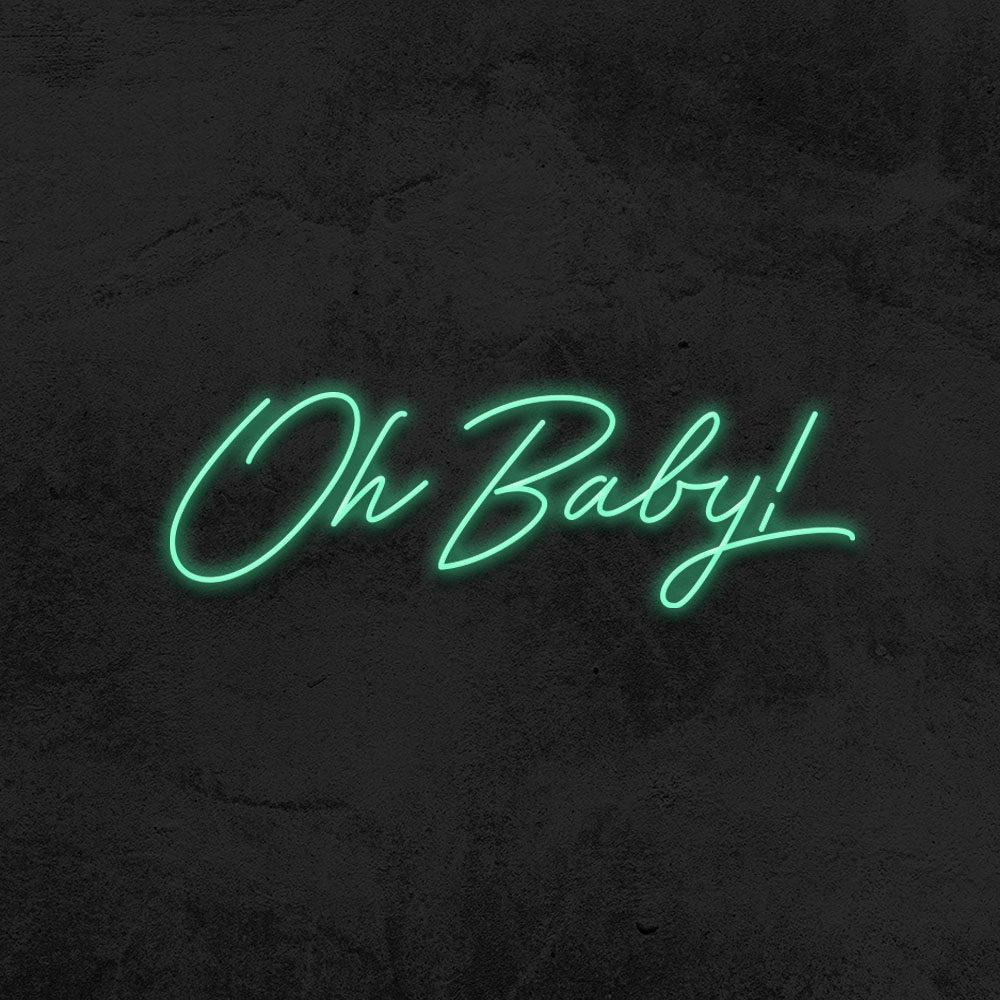oh baby neon led baby shower la maison du neon