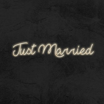 just married neon led mariage la maison du neon