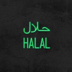 halal neon led restaurant la maison du neon
