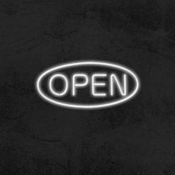 open neon led restaurant la maison du neon