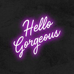 Hello Gorgeous neon led mariage la maison du neon