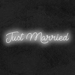 Just Married neon led mariage la maison du neon