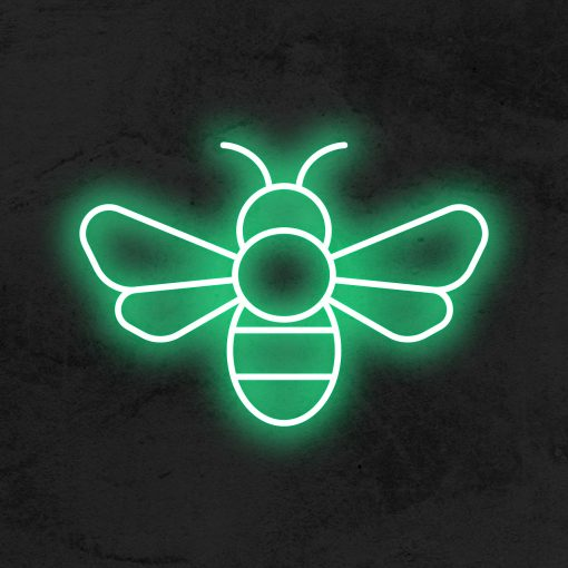 abeille neon led deco la maison du neon