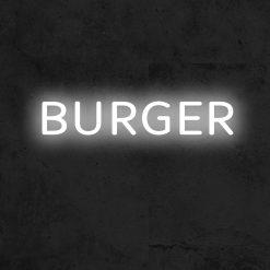 burger neon led restaurant la maison du neon
