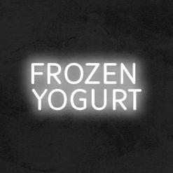 frozen yogurt neo led restaurant la maison du neon