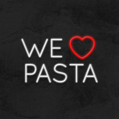 neon we love pasta led restaurant la maison du neon