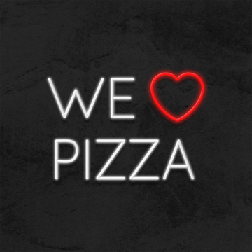 neon we love pizza led restaurant la maison du neon
