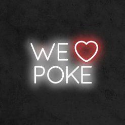 we love poke neon led restaurant la maison du neon