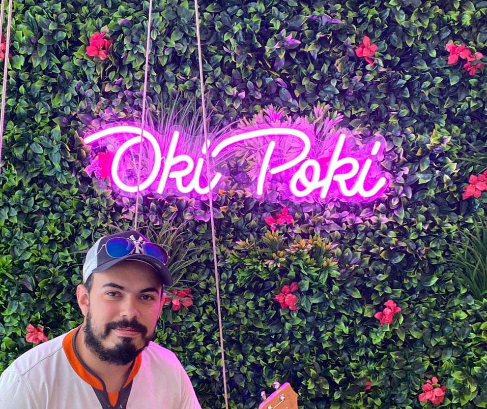 poke bar neon restaurant