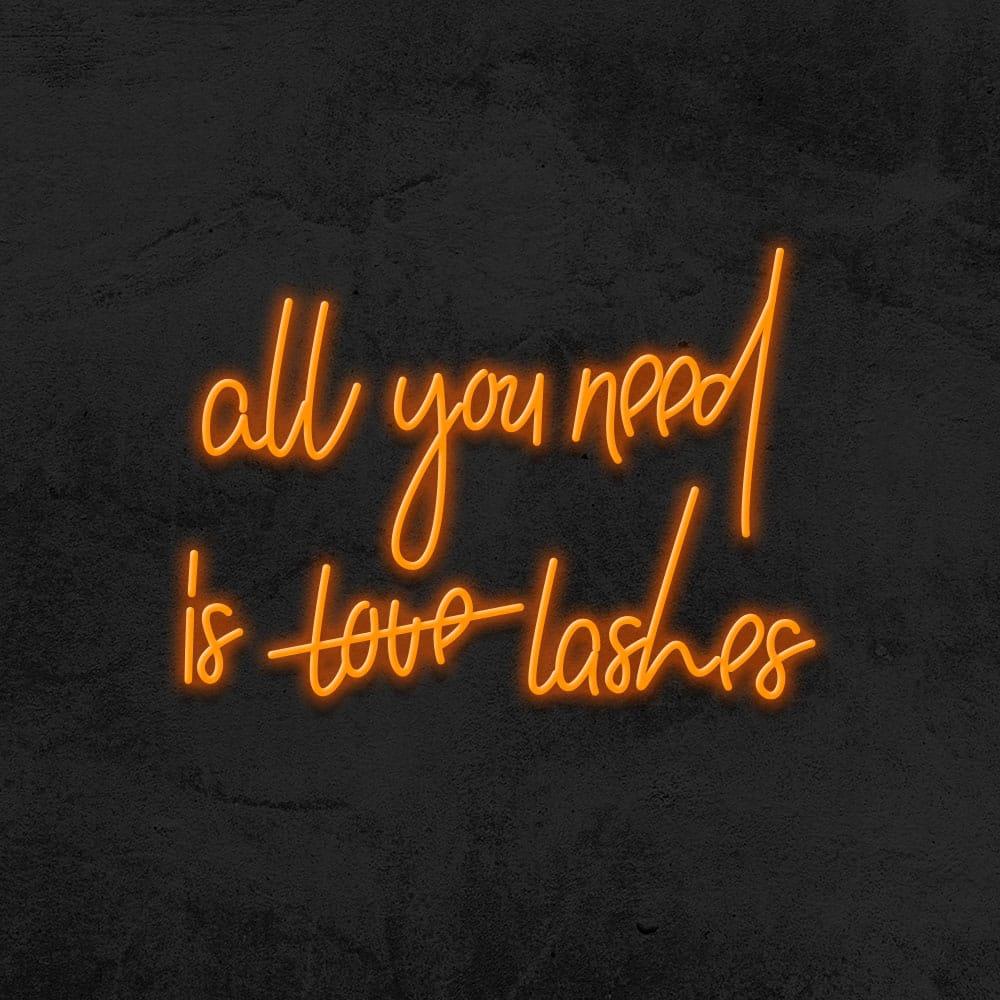 all you need is lashes neon beaute la maison du neon