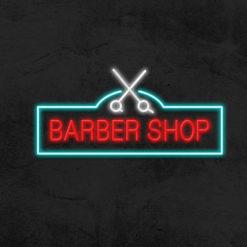 enseigne barber shop la maison du neon