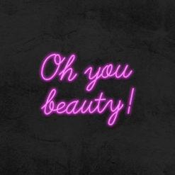 oh you beauté neon led salon de beaute la maison du neon