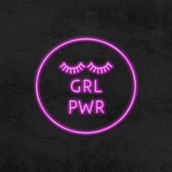girl power neon led salon de beaute la maison du neon