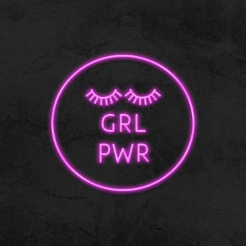 girl power neon led salon de beaute la maison du neon