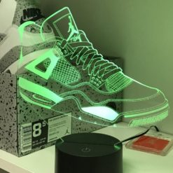 lampe led air jordan 4 sneaker basket la maison du neon