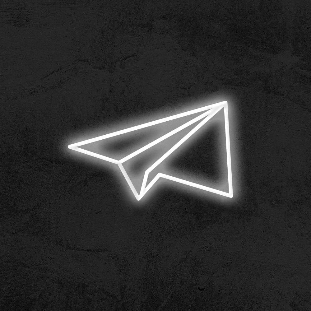 néon avion en papier led néon déco chambre enfant la maison du neon