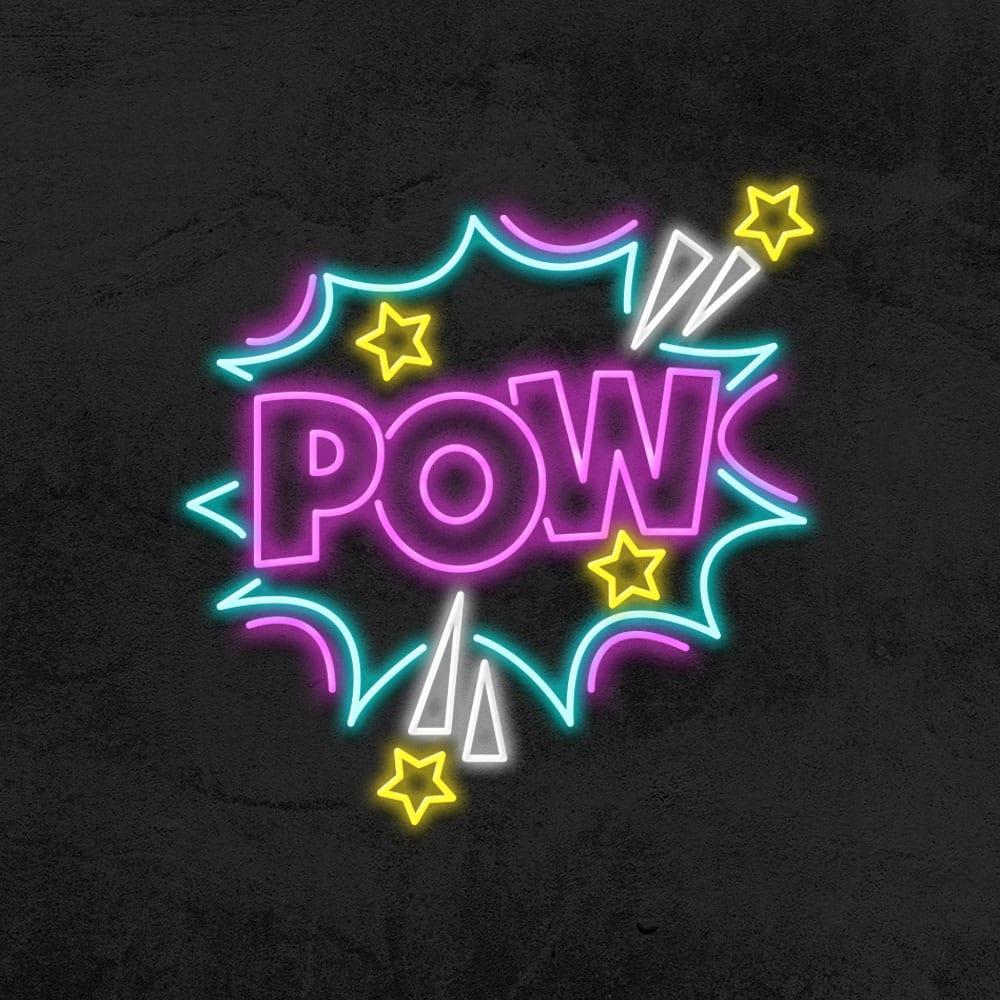 néon pow bd bandes dessinées led neon deco chambre enfant la maison du neon