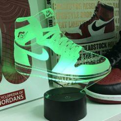 lampe led air jordan 1 sneaker basket la maison du neon