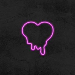 néon coeur coulant neon led deco chambre la maison du neon
