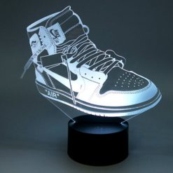lampe led air jordan 1 off white sneaker basket la maison du neon