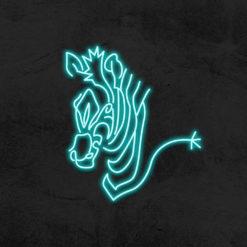 neon zebre led neon deco la maison du neon