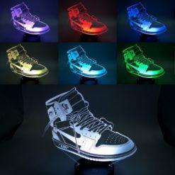 lampe led air jordan 1 off white sneaker basket la maison du neon