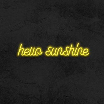 néon hello sunshine neon led deco chambre la maison du neon