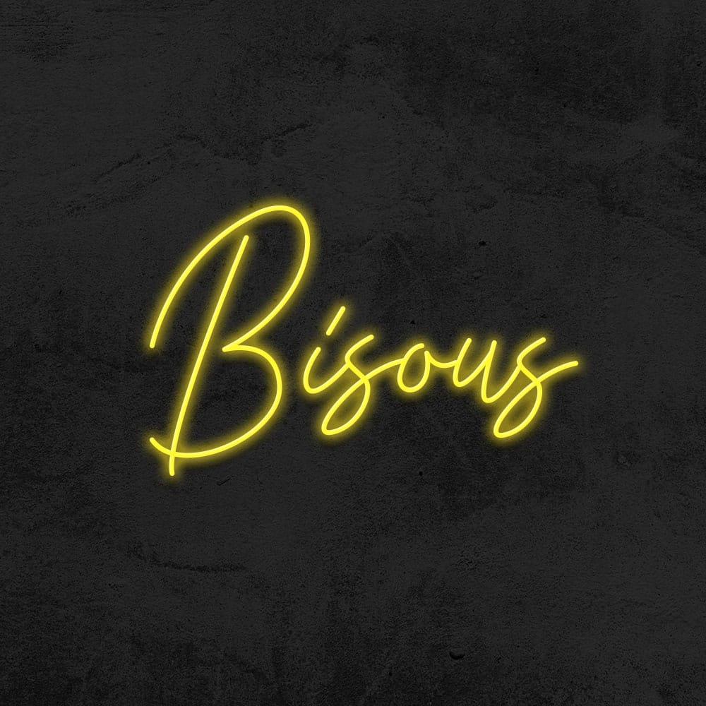 néon Bisous led néon déco la maison du néon