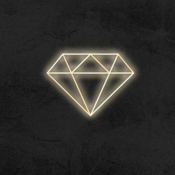 neon diamant led neon deco la maison du neon