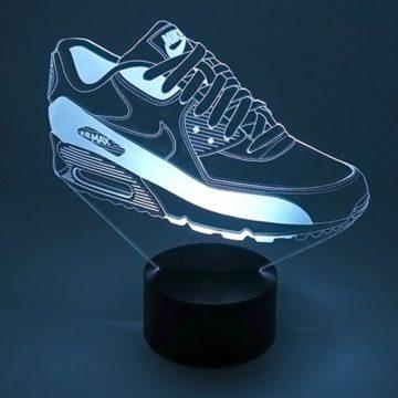 lampe led nike air max 90 sneaker basket la maison du neon