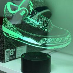 lampe led air jordan 3 sneaker basket la maison du neon