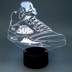 lampe led air jordan 5 supreme sneaker basket la maison du neon