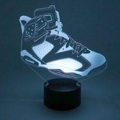 lampe led air jordan 6 sneaker basket la maison du neon