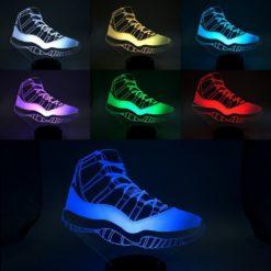 lampe led air jordan 11 sneaker basket la maison du neon