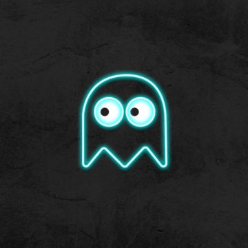neon fantome led neon deco chambre enfant la maison du neon