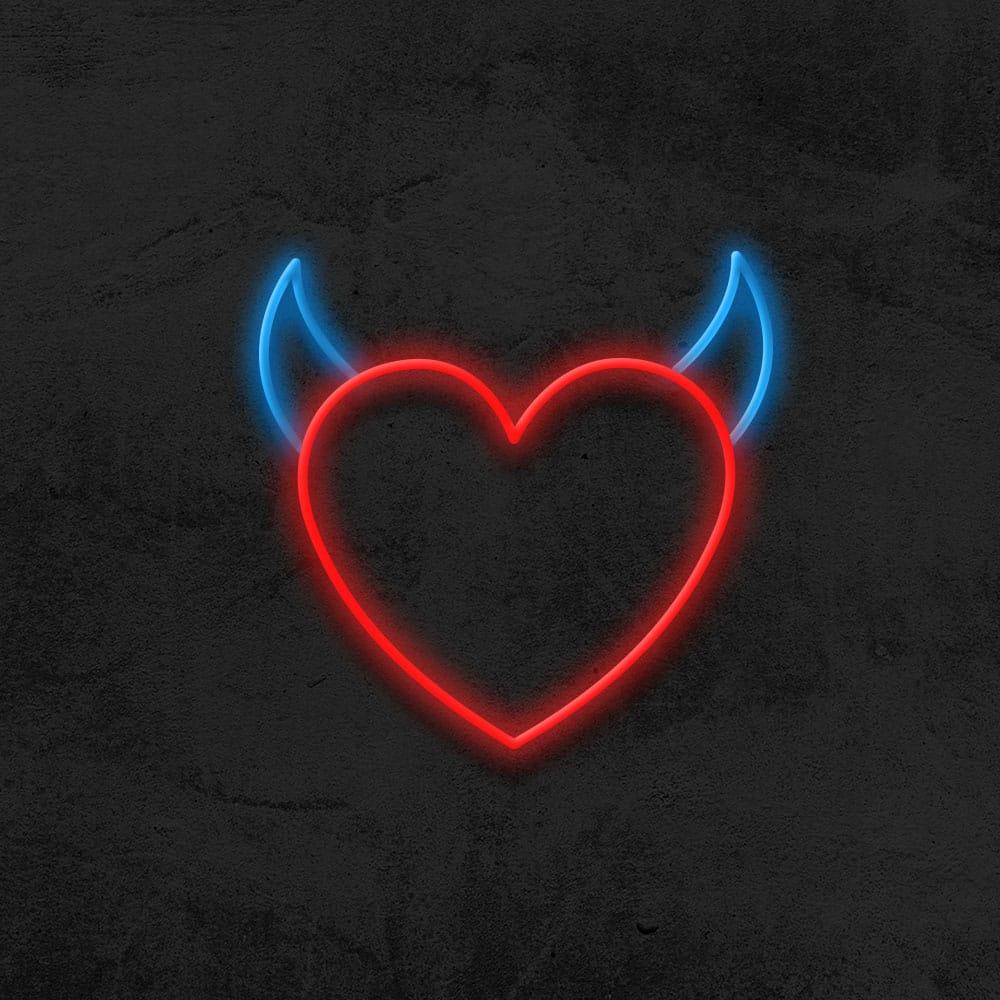néon coeur diable neon led deco chambre la maison du neon