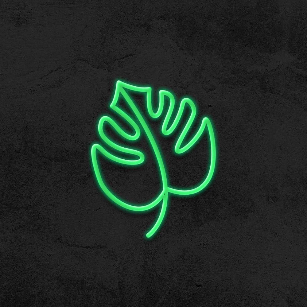 neon feuille tropicale led neon deco chambre enfant la maison du neon