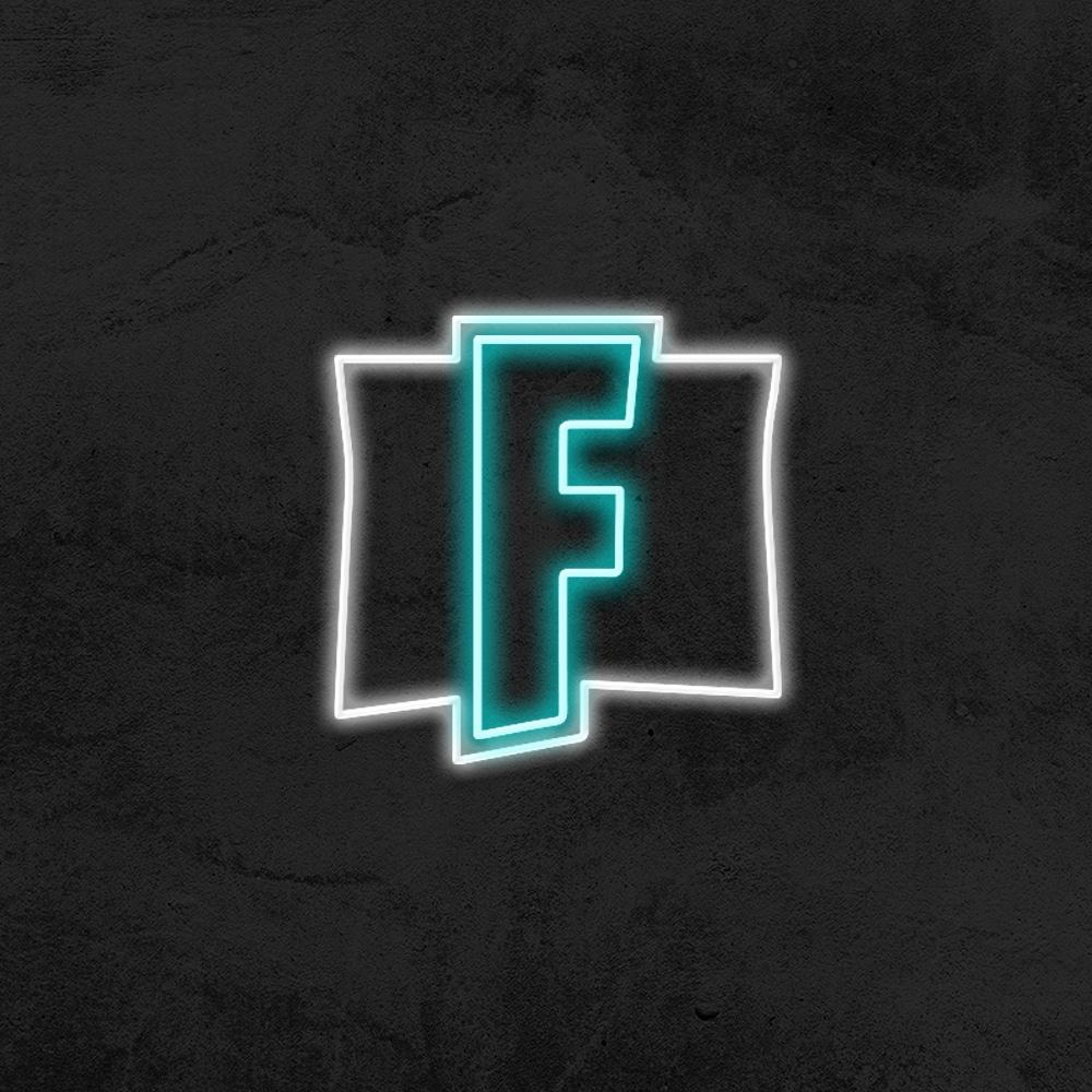 logo fornite neon deco chambre enfant la maison du neon