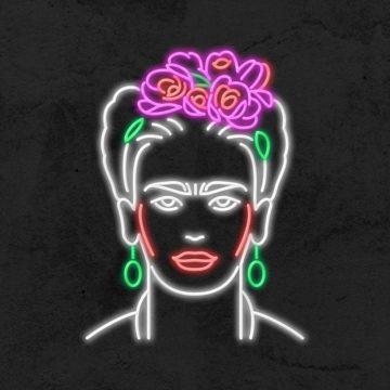 néon Frida Khalo led deco iconic la maison du neon