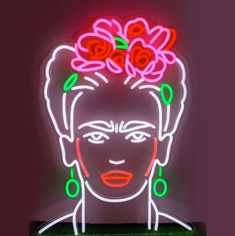 Frida Khalo en Néon enseigne lumineuse