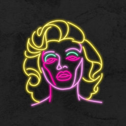 neon marylin monroe led neon deco la maison du neon
